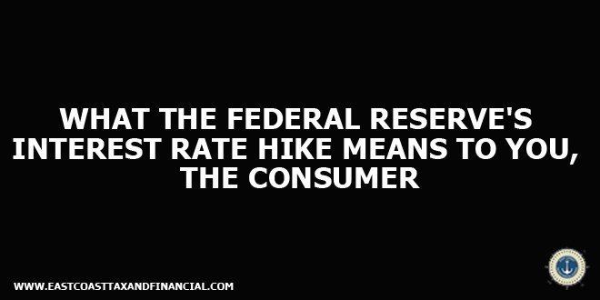 What the Federal Reserve's Interest Rate Hike Means to You, the Consumer